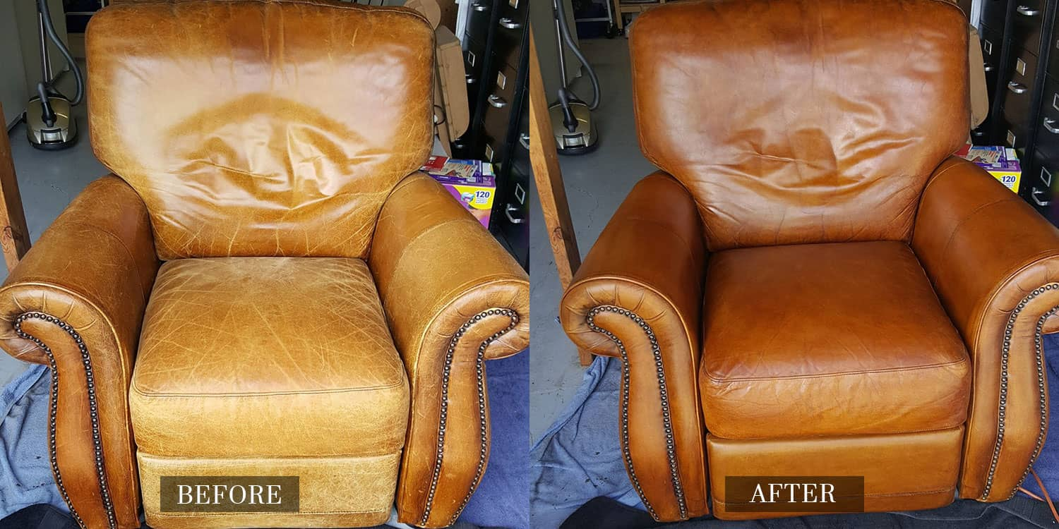 Faded Leather Armchair