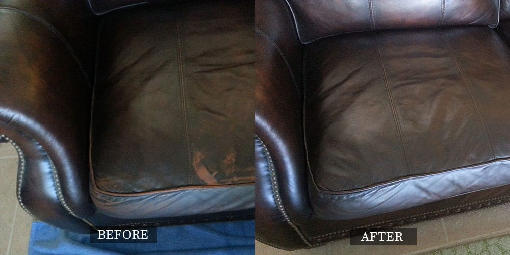 Restored Leather Sofa