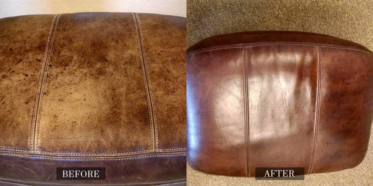 before and after gallery leather medic. Black Bedroom Furniture Sets. Home Design Ideas