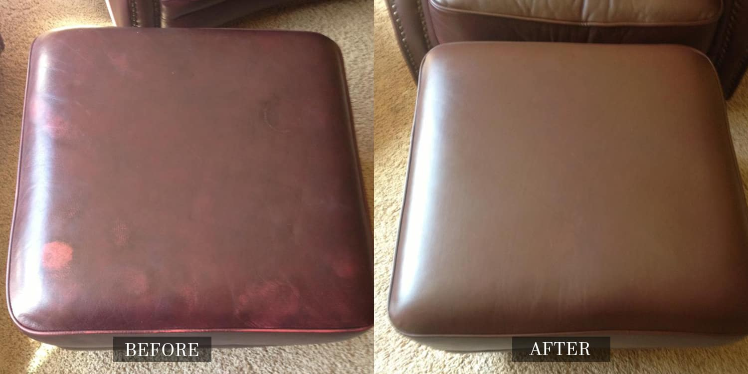 2016-02 Repaired Leather Ottoman